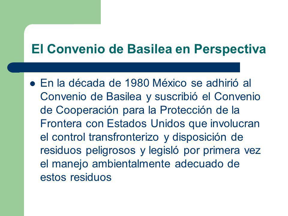 El Convenio de Basilea en Perspectiva