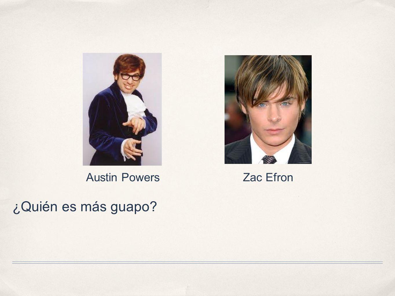 Austin Powers Zac Efron ¿Quién es más guapo