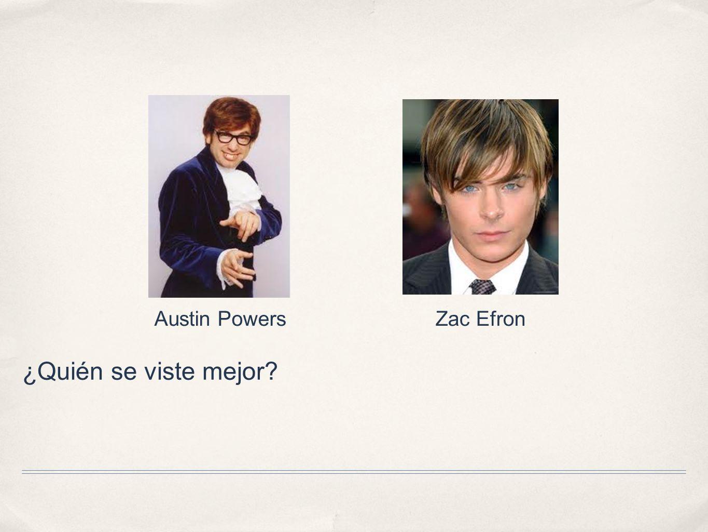 Austin Powers Zac Efron ¿Quién se viste mejor