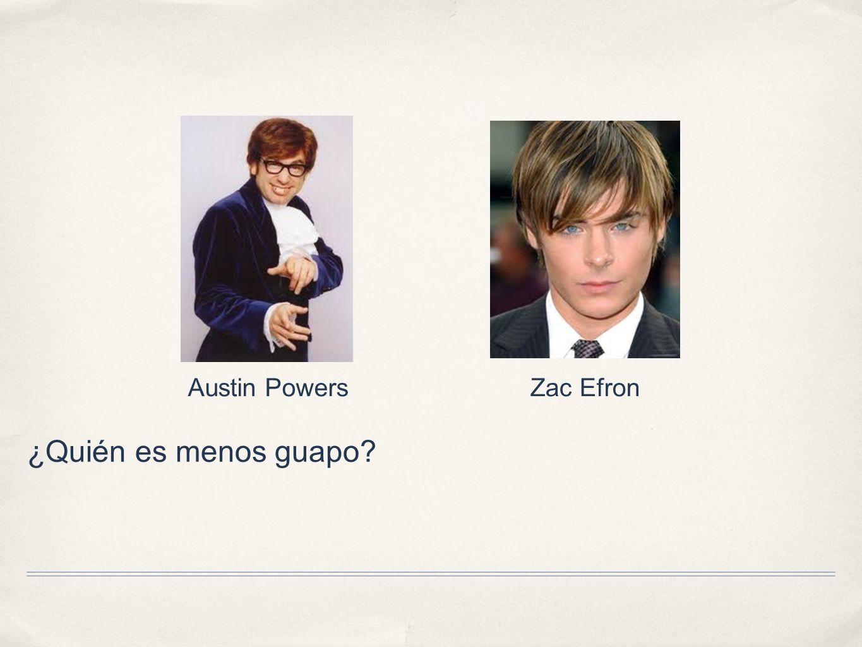 Austin Powers Zac Efron ¿Quién es menos guapo