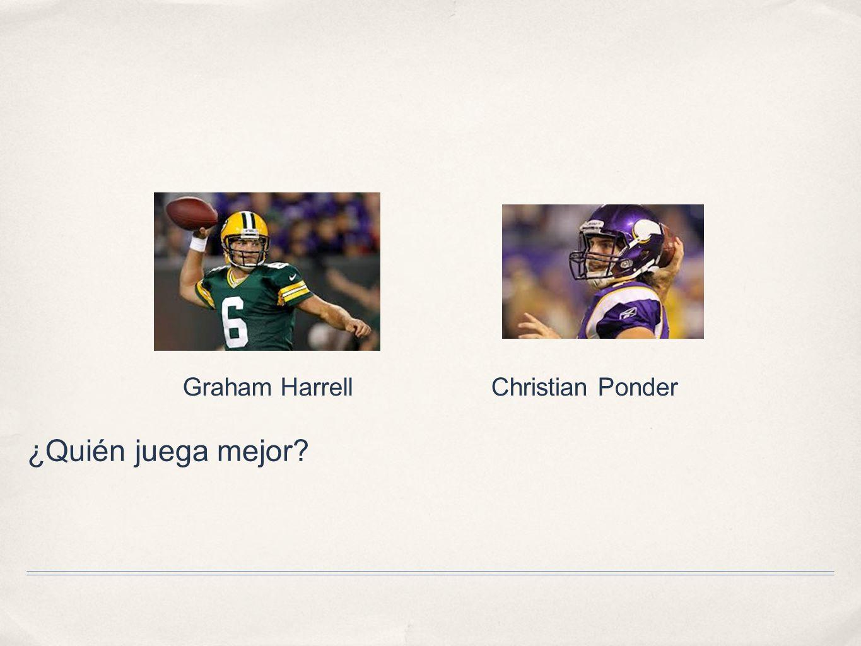 Graham Harrell Christian Ponder ¿Quién juega mejor
