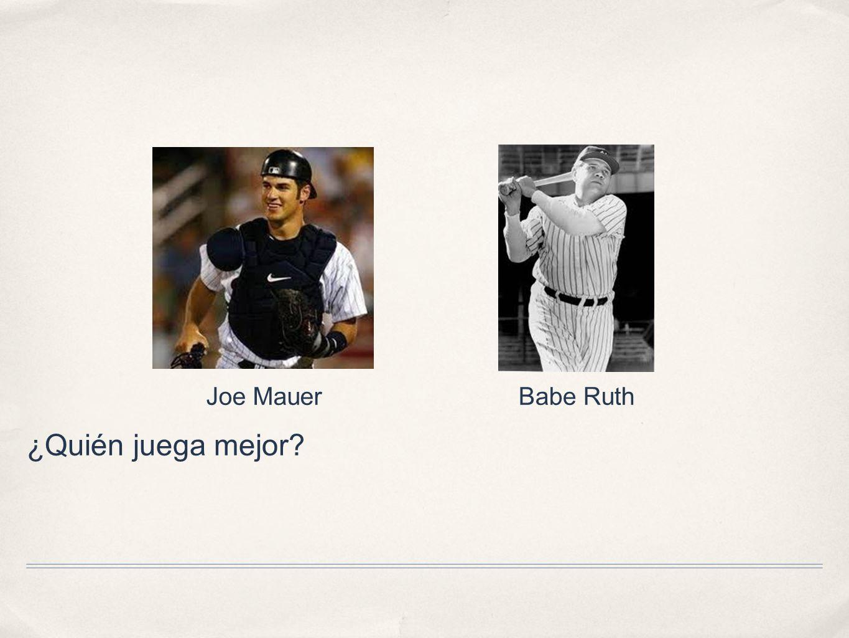 Joe Mauer Babe Ruth ¿Quién juega mejor