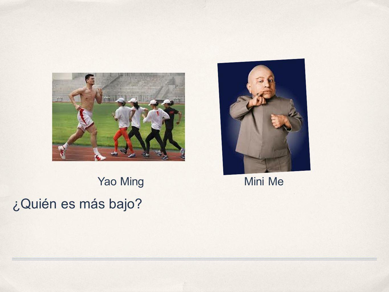 Yao Ming Mini Me ¿Quién es más bajo