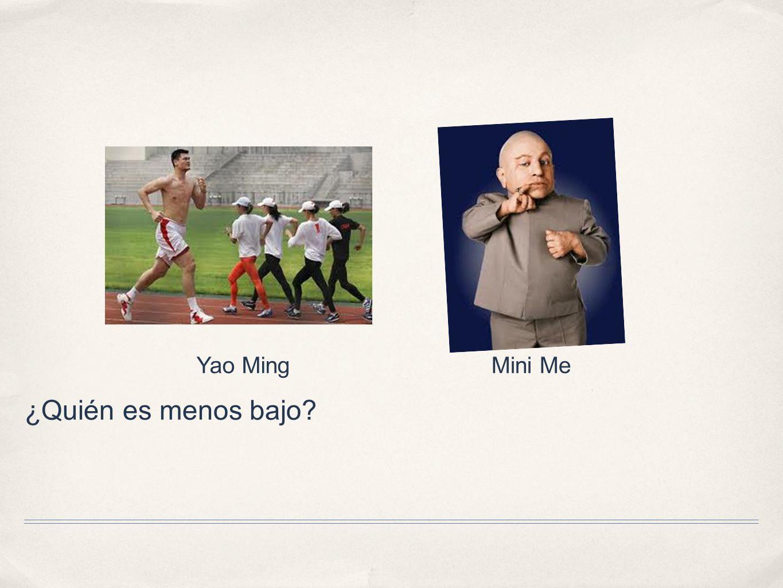 Yao Ming Mini Me ¿Quién es menos bajo