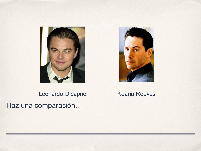 Leonardo Dicaprio Keanu Reeves Haz una comparación...