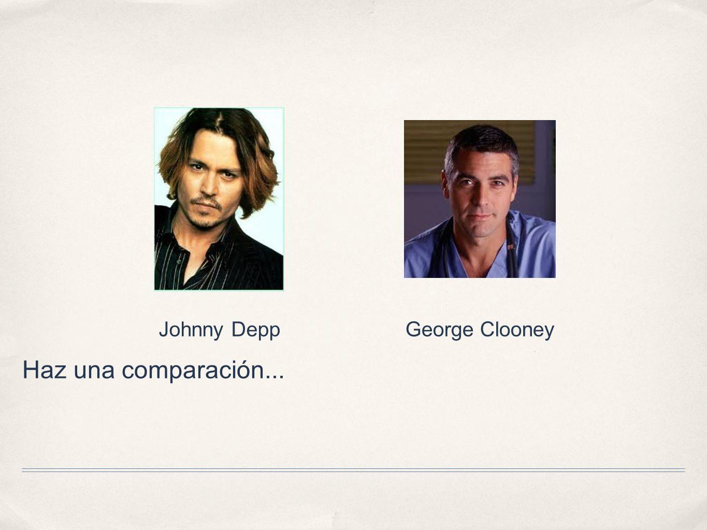 Johnny Depp George Clooney Haz una comparación...