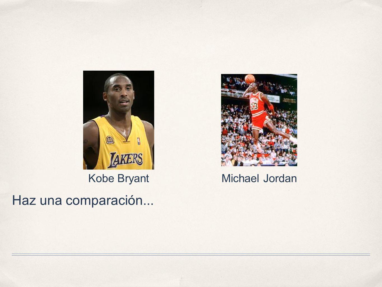 Kobe Bryant Michael Jordan Haz una comparación...