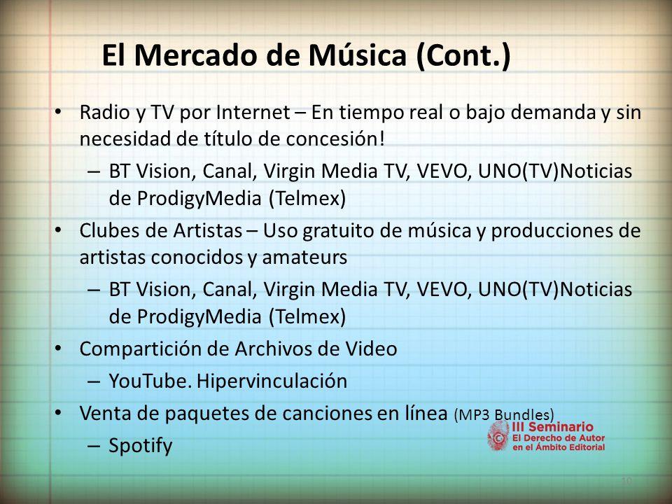 El Mercado de Música (Cont.)