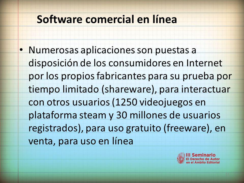 Software comercial en línea