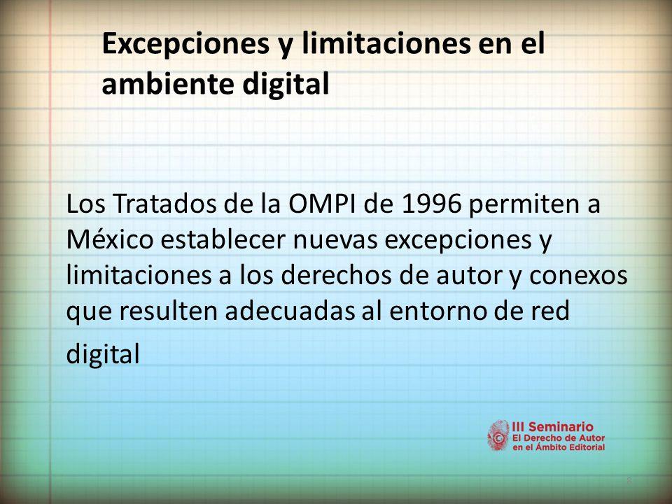 Excepciones y limitaciones en el ambiente digital