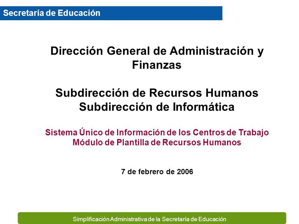 Dirección General de Administración y Finanzas
