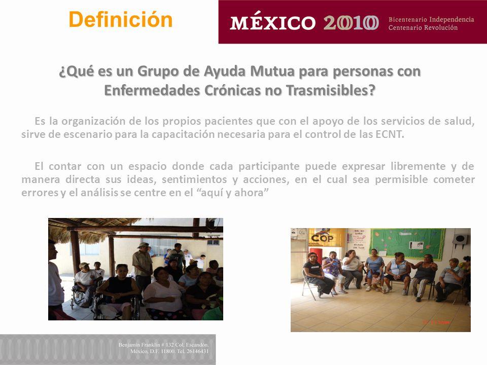 Definición ¿Qué es un Grupo de Ayuda Mutua para personas con Enfermedades Crónicas no Trasmisibles