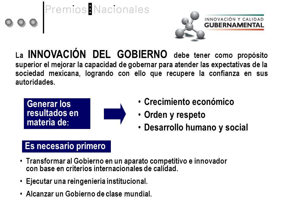 Generar los resultados en materia de: Crecimiento económico