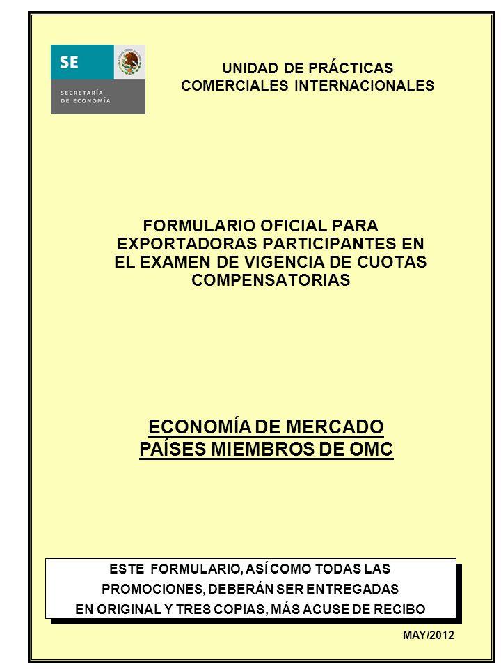 ´ ECONOMÍA DE MERCADO PAÍSES MIEMBROS DE OMC