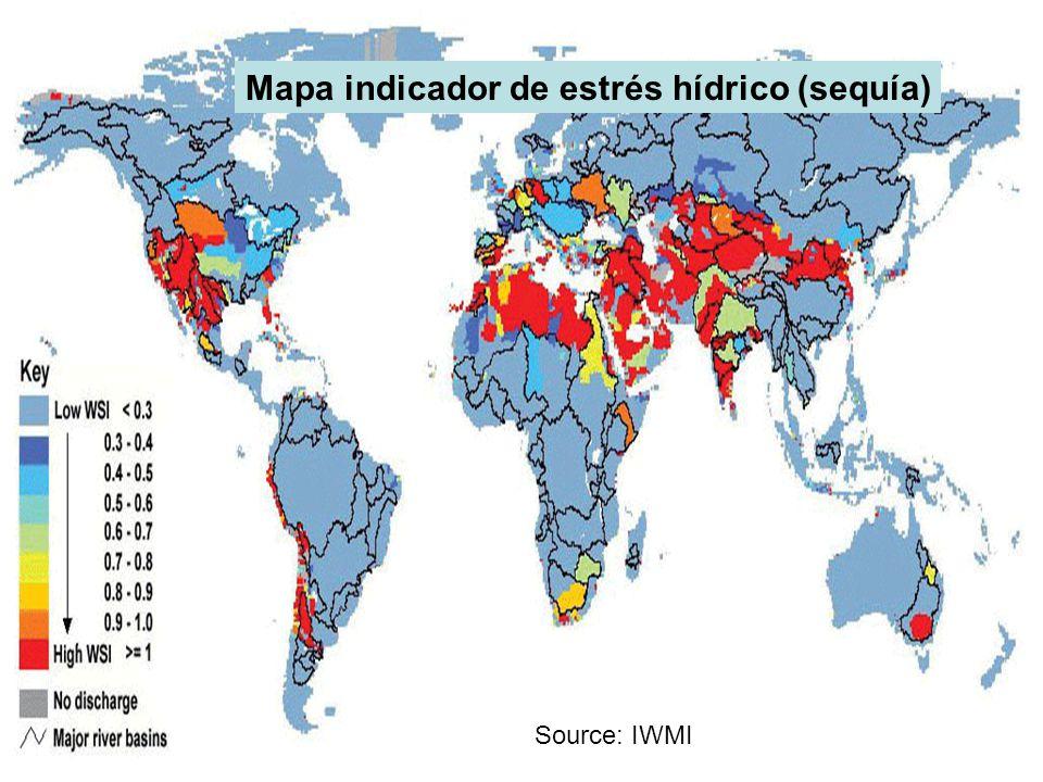 Mapa indicador de estrés hídrico (sequía)