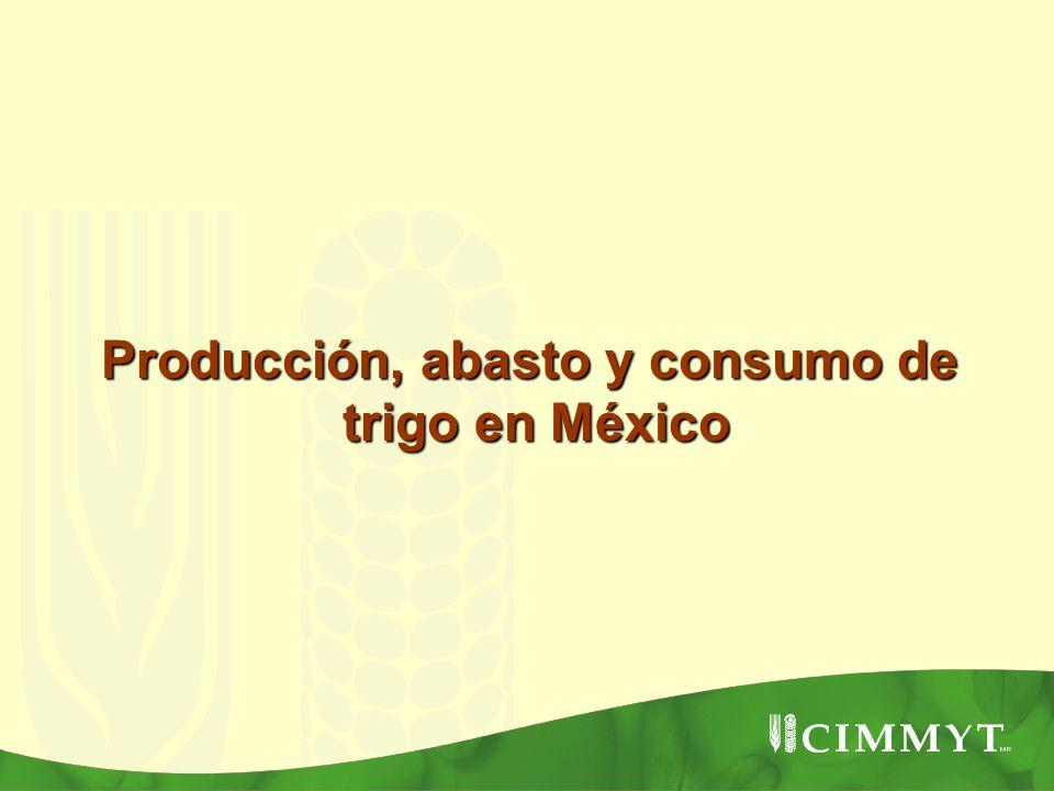 Producción, abasto y consumo de trigo en México