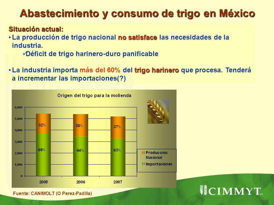 Abastecimiento y consumo de trigo en México
