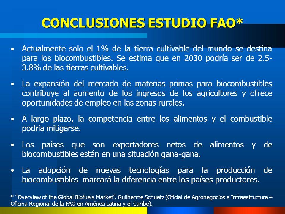 CONCLUSIONES ESTUDIO FAO*