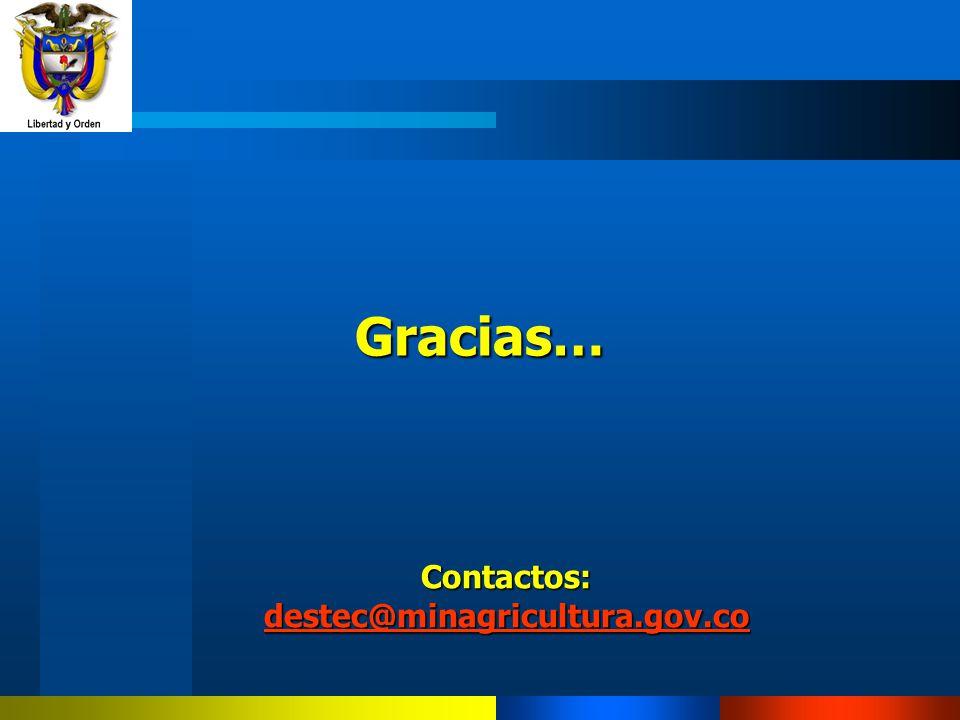 Contactos: destec@minagricultura.gov.co