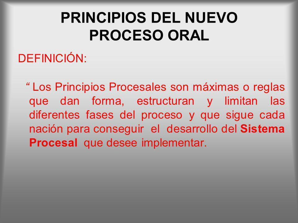 PRINCIPIOS DEL NUEVO PROCESO ORAL