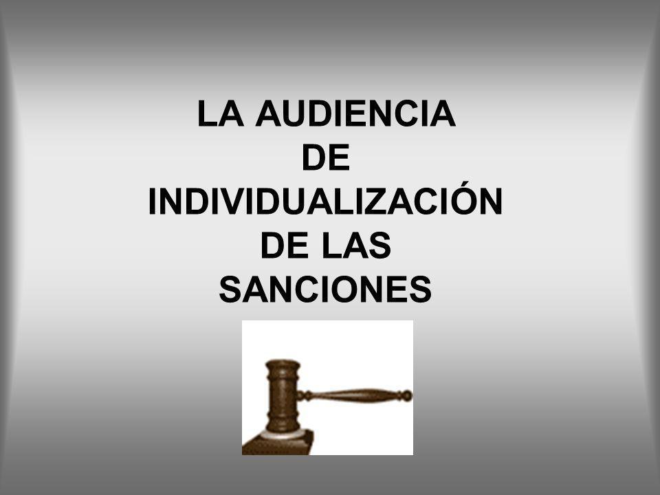LA AUDIENCIA DE INDIVIDUALIZACIÓN DE LAS SANCIONES