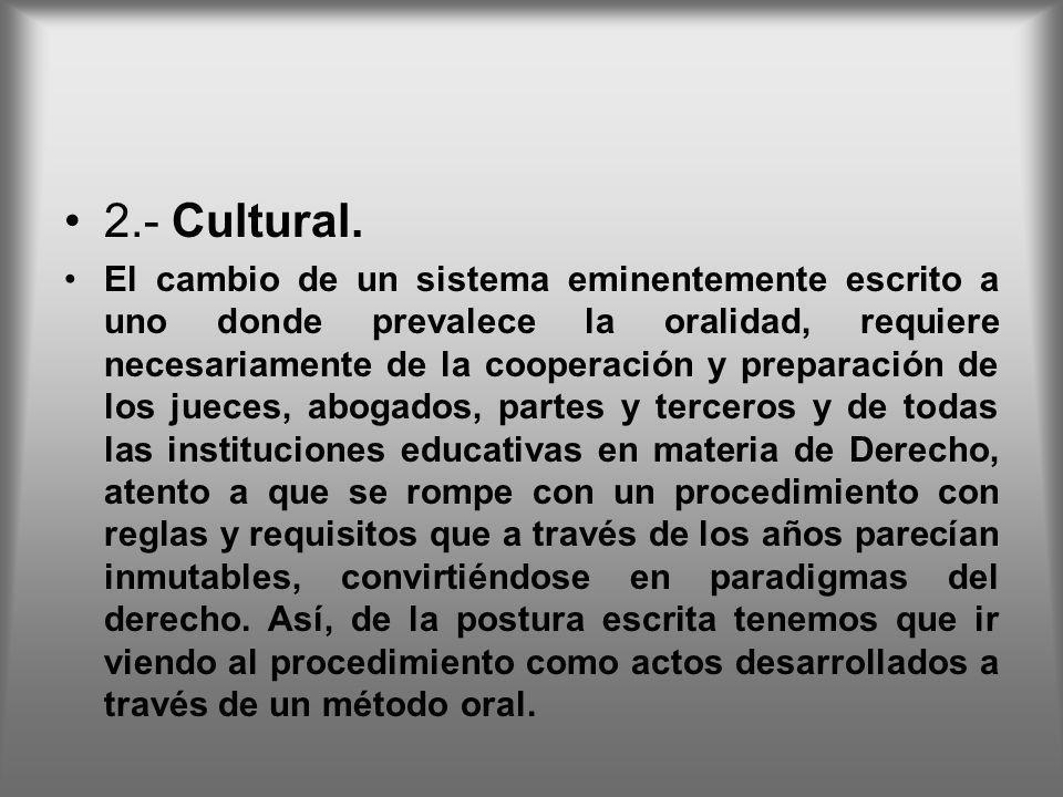 2.- Cultural.