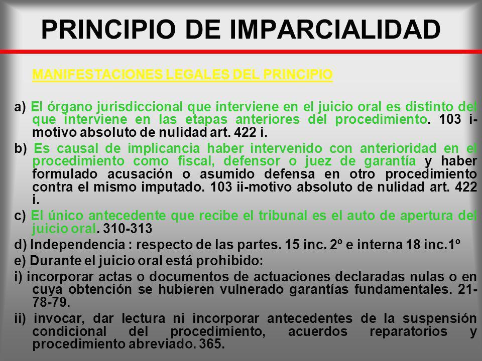 PRINCIPIO DE IMPARCIALIDAD