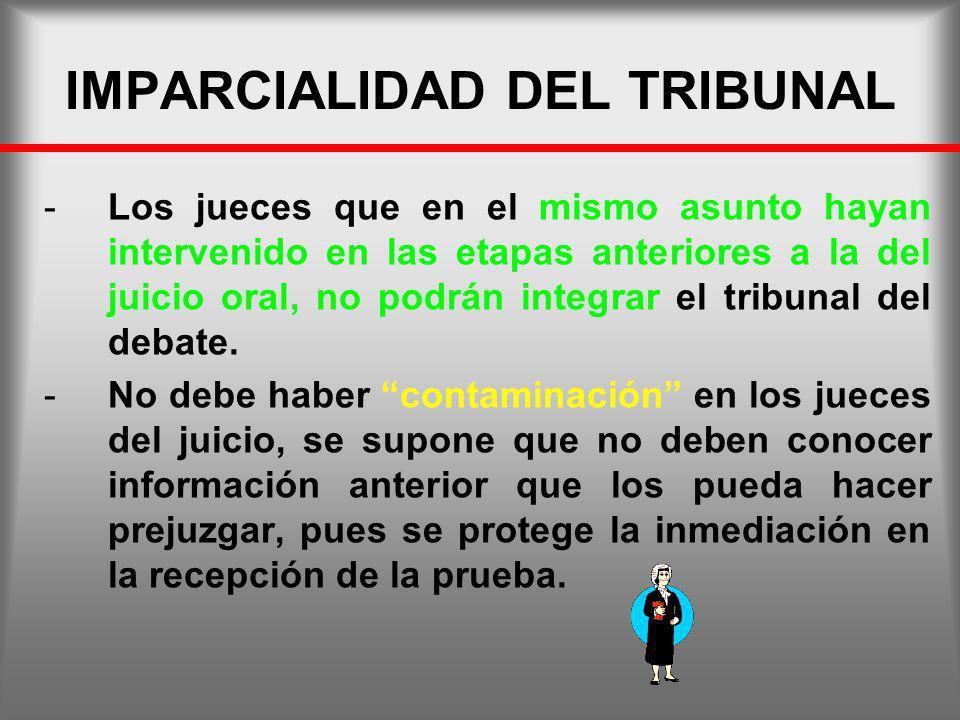 IMPARCIALIDAD DEL TRIBUNAL