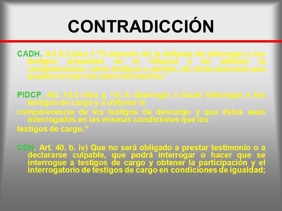 CONTRADICCIÓN