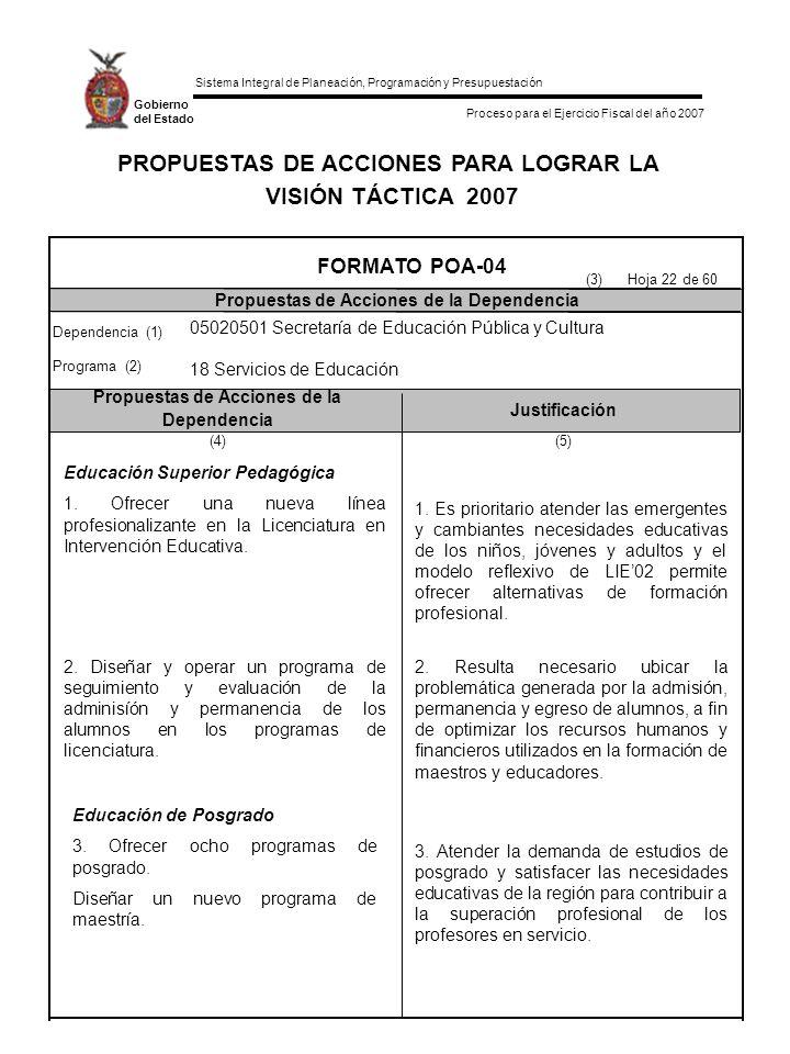 PROPUESTAS DE ACCIONES PARA LOGRAR LA
