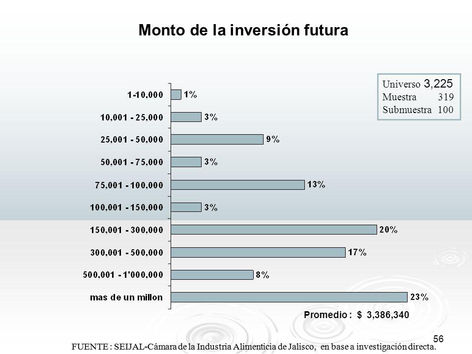 Monto de la inversión futura