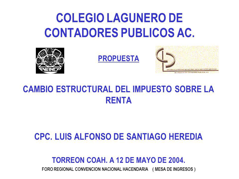 COLEGIO LAGUNERO DE CONTADORES PUBLICOS AC.