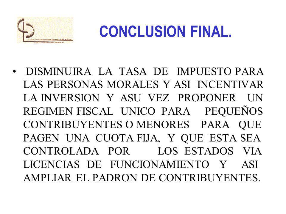 CONCLUSION FINAL.