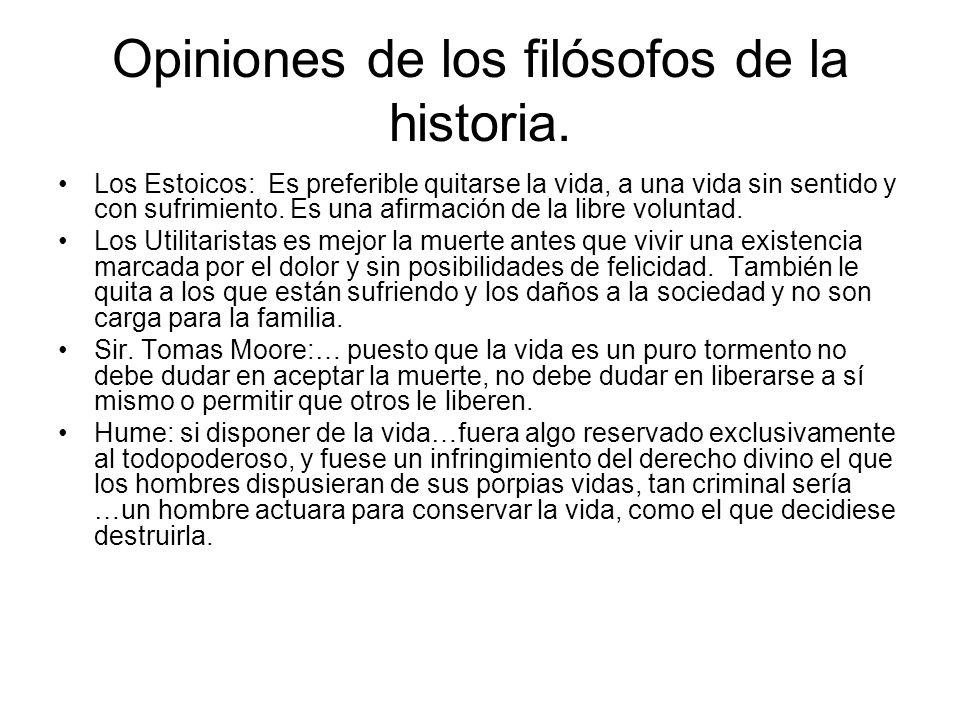 Opiniones de los filósofos de la historia.
