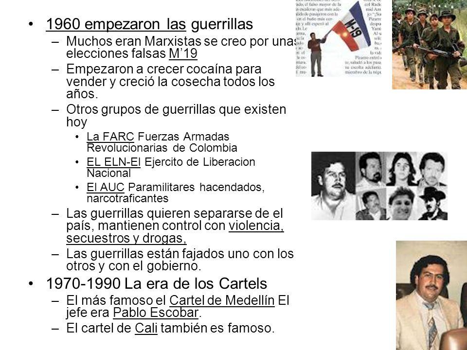 1960 empezaron las guerrillas