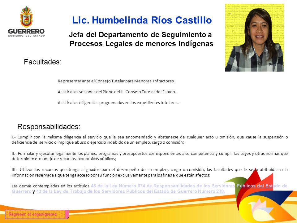 Lic. Humbelinda Ríos Castillo