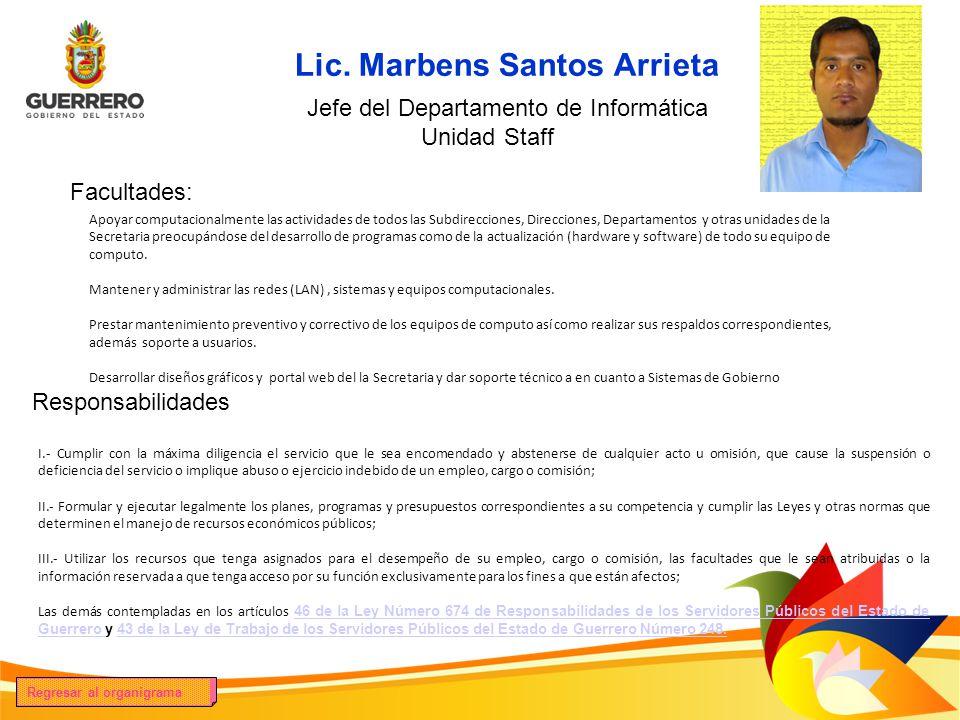 Lic. Marbens Santos Arrieta