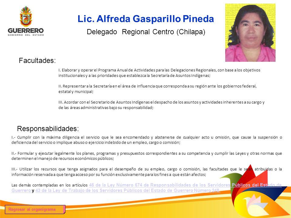 Lic. Alfreda Gasparillo Pineda