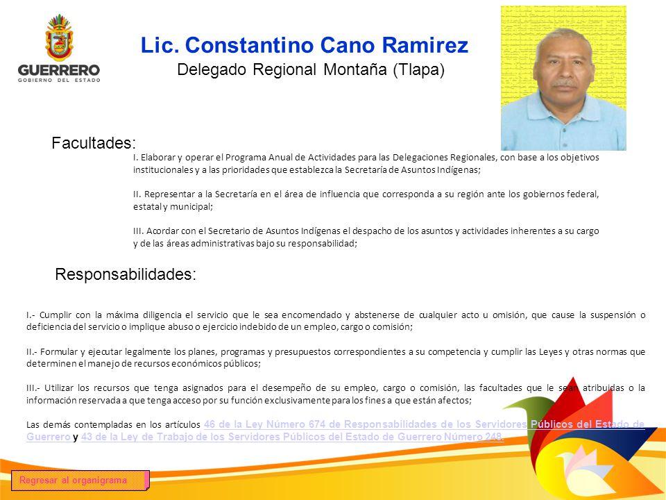 Lic. Constantino Cano Ramirez