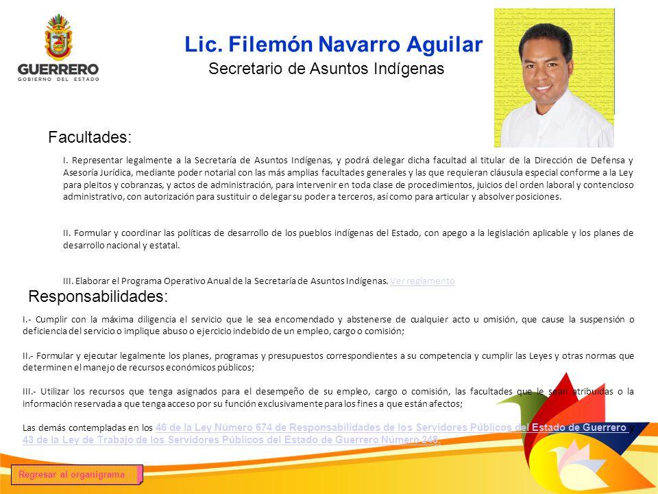 Lic. Filemón Navarro Aguilar