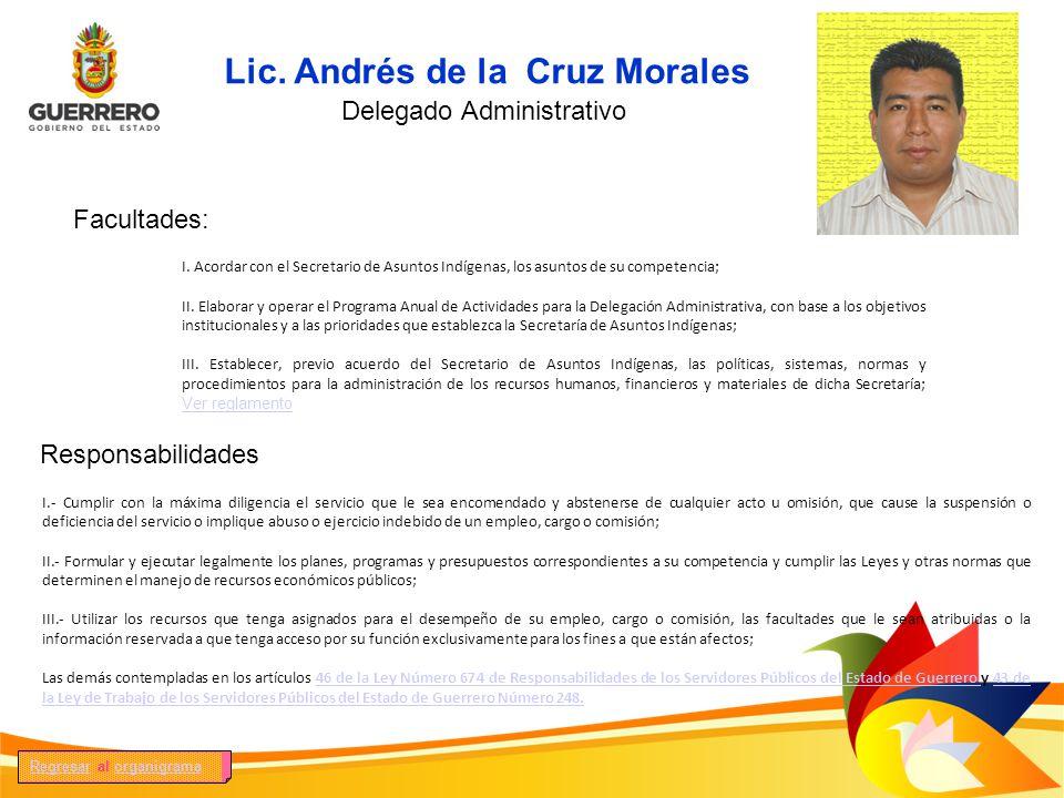 Lic. Andrés de la Cruz Morales