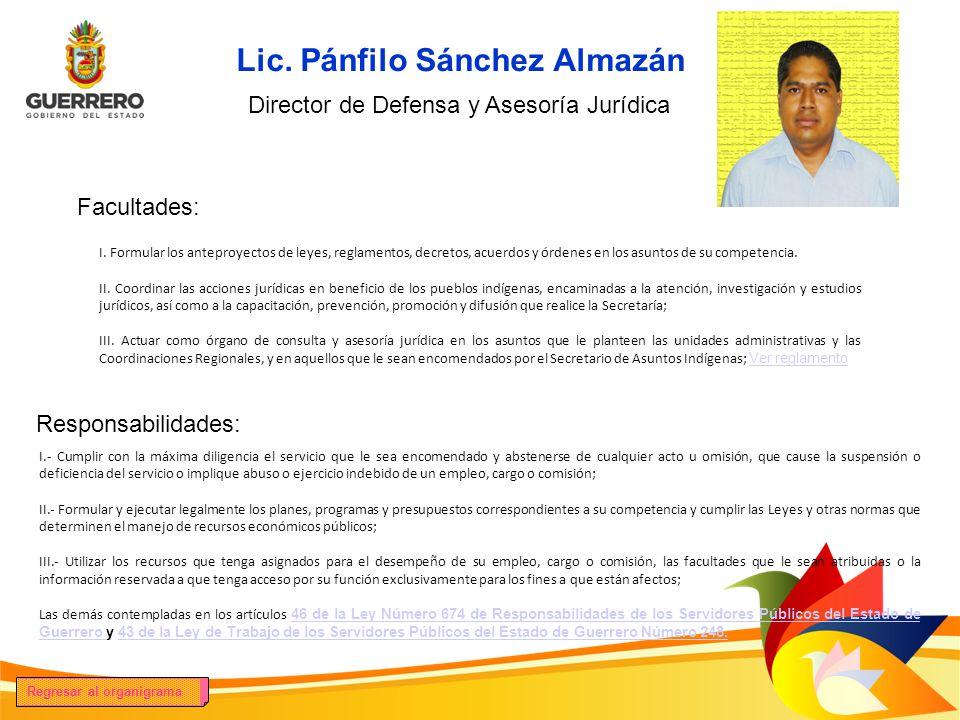 Lic. Pánfilo Sánchez Almazán