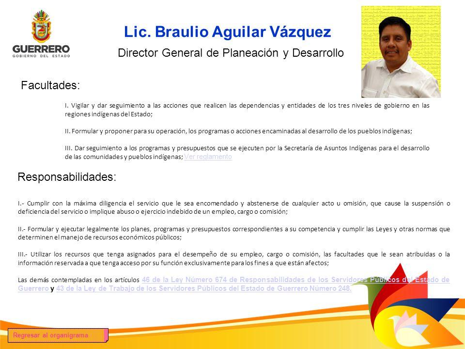 Lic. Braulio Aguilar Vázquez