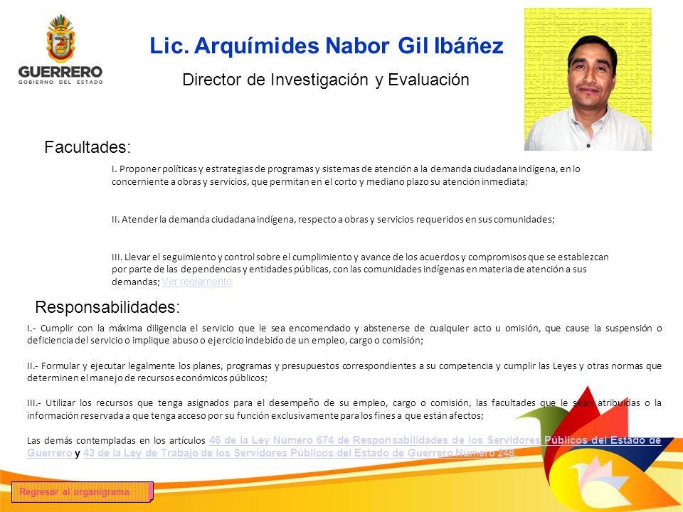 Lic. Arquímides Nabor Gil Ibáñez