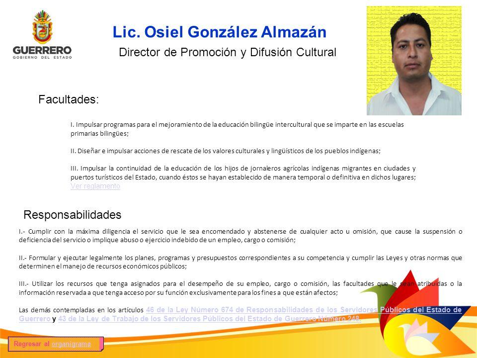 Lic. Osiel González Almazán