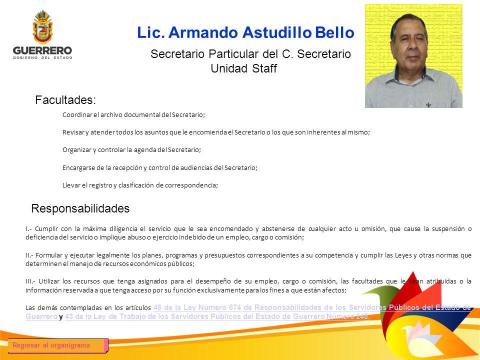 Lic. Armando Astudillo Bello