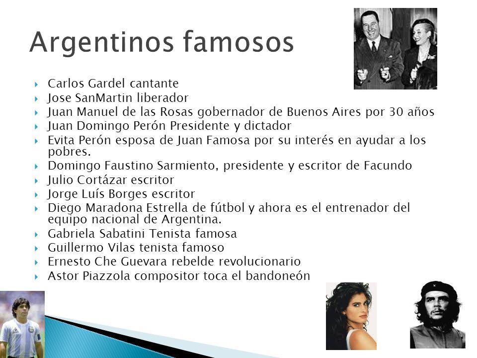 Argentinos famosos Carlos Gardel cantante Jose SanMartin liberador