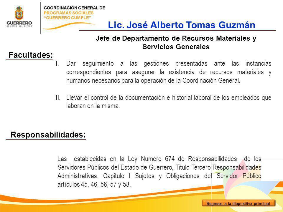 Lic. José Alberto Tomas Guzmán