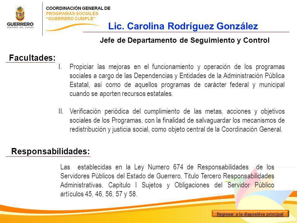 Lic. Carolina Rodríguez González