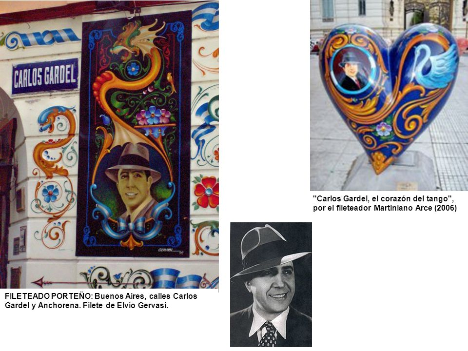 FILETEADO PORTEÑO: Buenos Aires, calles Carlos Gardel y Anchorena